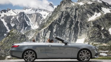 Mercedes E-Class Cabriolet - side roof open