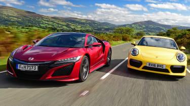 Honda NSX vs Porsche 911 Turbo - header