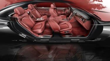 Bentley Mulsanne special - interior sketch