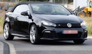 VW Golf R cabriolet front action