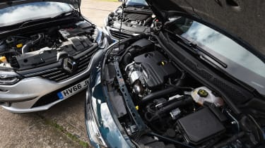 Renault Megane vs Vauxhall Astra vs Peugeot 308 - engines