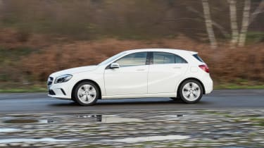 Mercedes A200d side profile