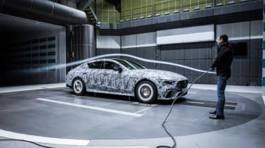 Mercedes-AMG GT four door wind tunnel