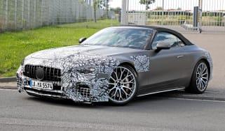 Mercedes SL spy shot
