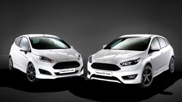 Ford Fiesta ST-Line and Focus ST-Line front