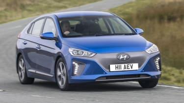 Hyundai IONIQ EV 2016 UK - front cornering