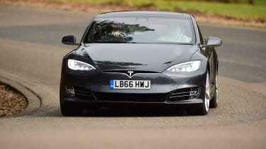 Tesla Model S - front cornering