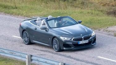 BMW 8 Series Convertible - spyshot side/front