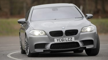 BMW M5 front cornering