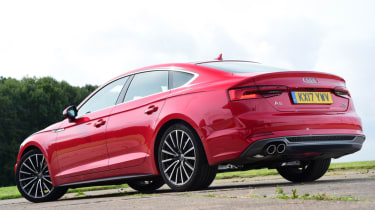 Twin test - Audi A5 - static rear