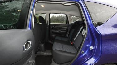Nissan Note blue rear seats