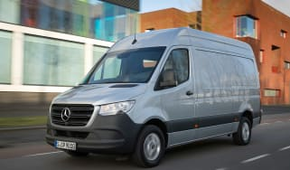 Mercedes Sprinter - silver front action