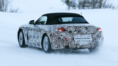 BMW Z4 spy shot rear quarter