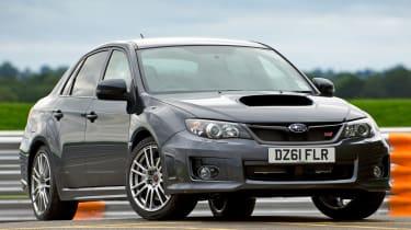 Subaru WRX STi saloon front three-quarters