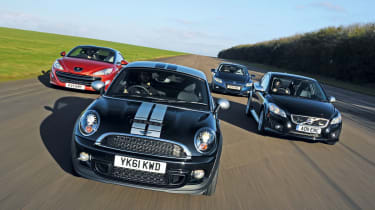 MINI Coupe vs rivals