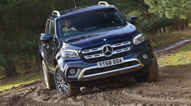 Mercedes x-class off-road action