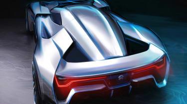 NextEV NIO EP9 electric hypercar - sketch rear