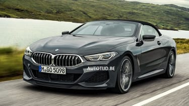 bmw 8 series convertible leaked tracking front