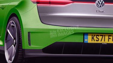 Volkswagen Scirocco EV - rear detail (watermarked)