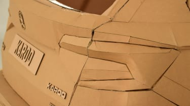 Cardboard Skoda Karoq tail lights