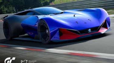 Peugeot L750 R Hybrid Vision Gran Turismo - blue front