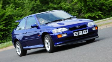 The dramatic Escort RS Cosworth made you feel like a World Rally driver, with 227bhp, four-wheel drive and that huge rear wing. Good for 0-62mph in 6.2 seconds and a top speed of 137mph.