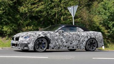 BMW M8 spy shot side