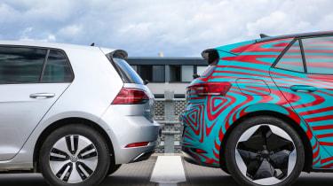 Volkswagen ID.3 vs Volkswagen e-Golf - rear wheels