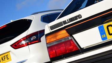 Nissan Bluebird vs Nissan Qashqai - rear detail