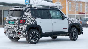 Jeep Renegade spy shot rearquarter