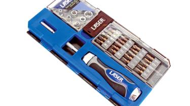 Laser Ratchet Bit and Socket Set 6992