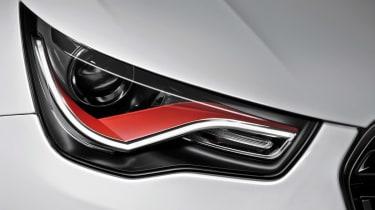Audi A1 quattro headlight detail
