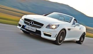 Mercedes SLK 55 AMG front tracking