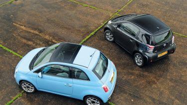 Fiat 500 TwinAir vs. Toyota iQ