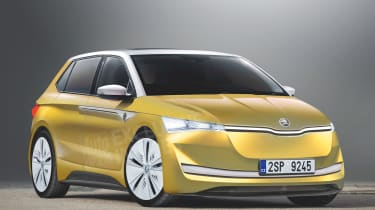 Skoda Felicia E electric hatch render