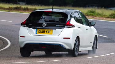 Nissan Leaf e+ - rear cornering