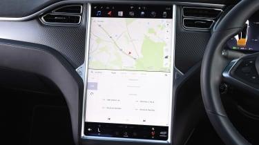 Tesla Model X - sat-nav