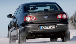 Rear view of Volkswagen Passat 4MOTION