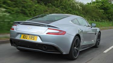 Aston Martin Vanquish Centenary Edition rear tracking