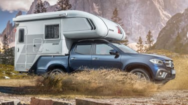 Mercedes X-Class campervan - front quarter
