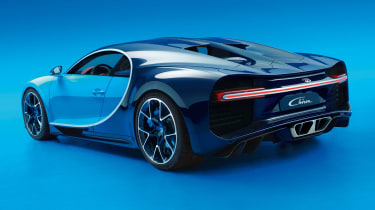 Bugatti Chiron - rear/side