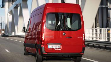 Mercedes Sprinter - red rear action