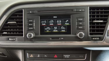 Used SEAT Leon Mk3 - infotainment screen