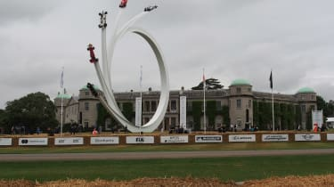 Goodwood sculpture - The Five Stages of Ecclestone