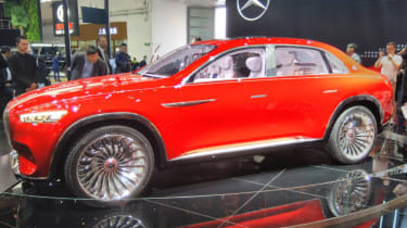 Mercedes-Maybach SUV almost side red