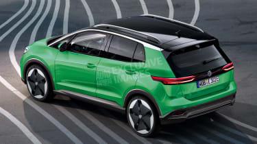 Volkswagen baby electric SUV - rear