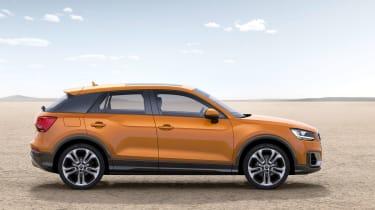 Audi Q2 orange side on