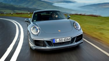 Porsche 911 Carrera 4 GTS - full front action