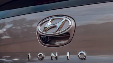 Hyundai Ioniq hybrid badge