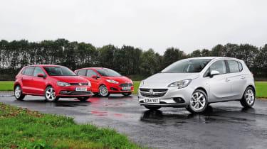 Vauxhall Corsa vs VW Polo vs Ford Fiesta